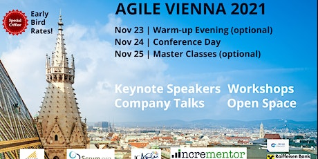 Agile Vienna| Conference and optional Masterclasses tickets