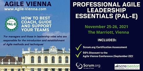 Agile Vienna | Certified Training | Professional Agile Leadership (PAL-E) tickets