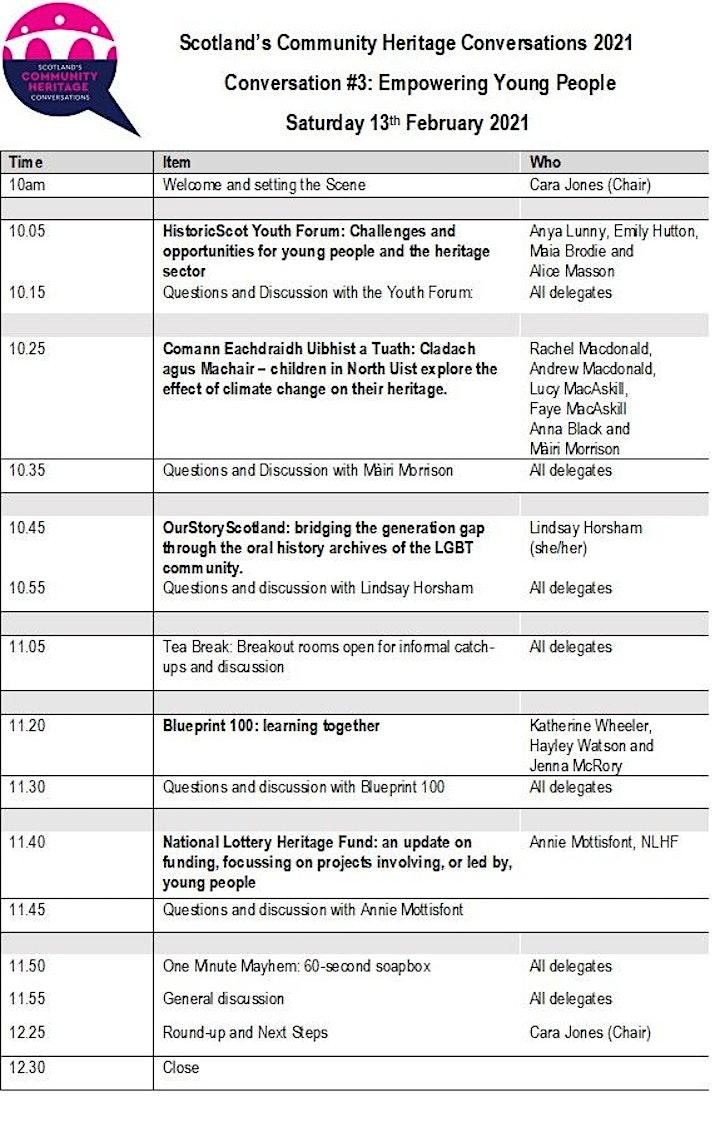 Scotland's Community Heritage Conversations 20/21: #3 Youth Empowerment image