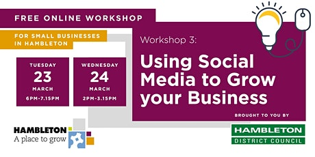 Using Social Media to  Grow your Business tickets
