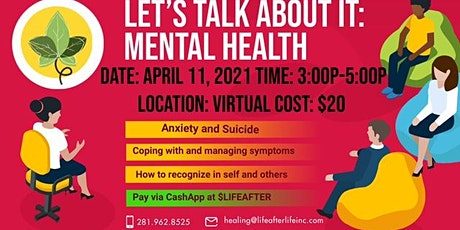 Let's Talk About It: Mental Health tickets