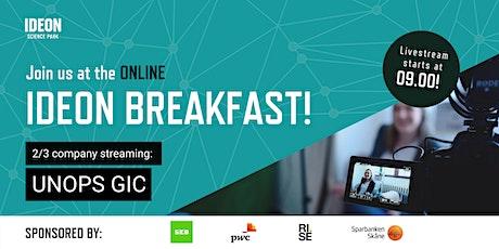 Ideon Breakfast Online with UNOPS GIC tickets