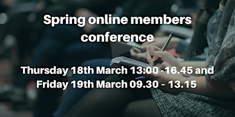 Spring online members conference (non member) tickets