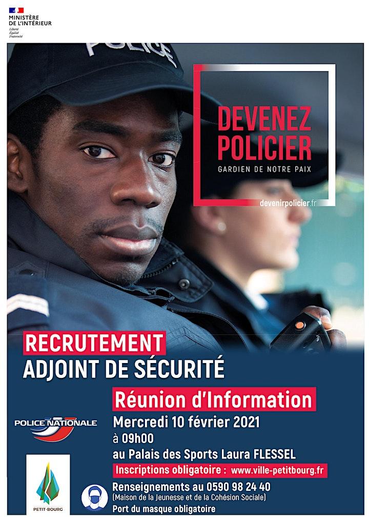 Image pour Réunion d'information : Devenez Policier