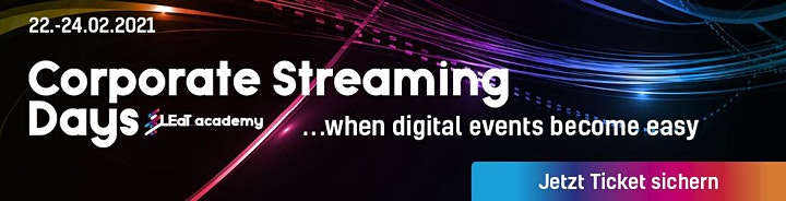 Corporate Streaming Days - VIDEO ON DEMAND ONLY: Bild