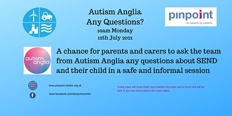 Autism Anglia- Any Questions? Ask the team anything at Parent Question Time tickets