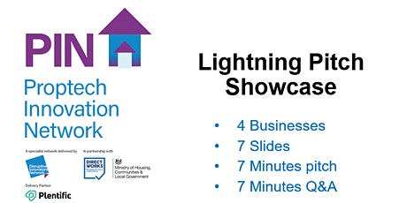 Proptech Innovation Network - Lightning Pitch Showcase tickets