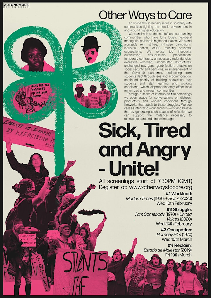 Sick, tired and angry - unite! image