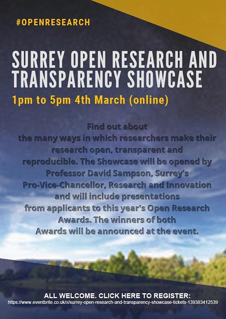 University of Surrey Open Research and Transparency Showcase image