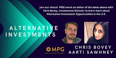Alternative Investments  with Chris Bovey and Midas Property Group tickets