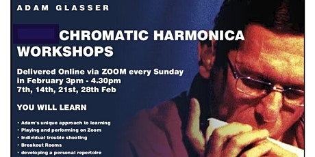 Harmonica Workshops  in February ( 7th, 14th, 21st, 28th) tickets