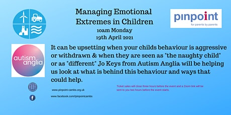 OA Workshop - Managing Emotional Extremes in Children tickets