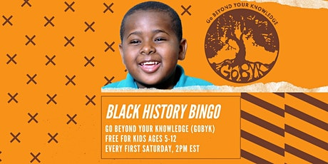 Free Black History Bingo tickets