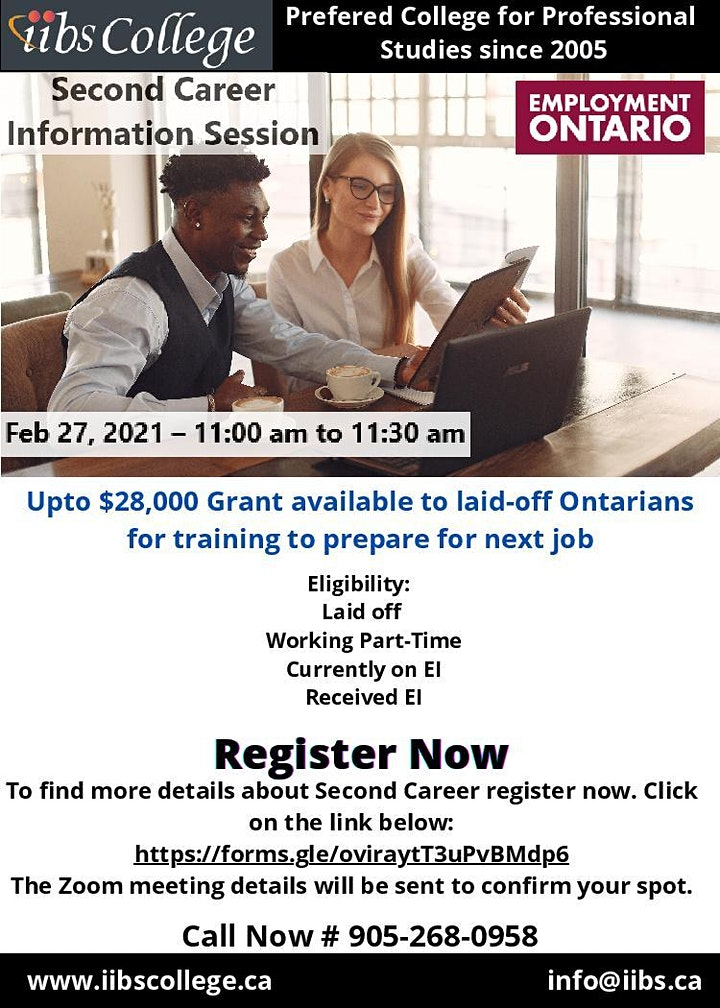 ARE YOU LAID OFF? CONSIDER A SECOND CAREER – A Government of Ontario image