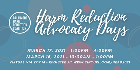 2021 Harm Reduction Advocacy Days tickets