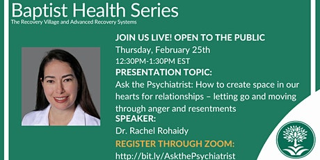 Ask the Psychiatrist: How to Create Space in Our Hearts for Relationships tickets