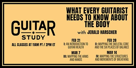 What Every Guitarist Needs to Know About the Body (Single Class) tickets