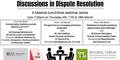 """Discussions in Dispute Resolution"" – A Bitesize Lunchtime Webinar Series tickets"