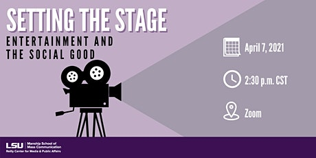 Setting the Stage: Entertainment & the Social Good tickets
