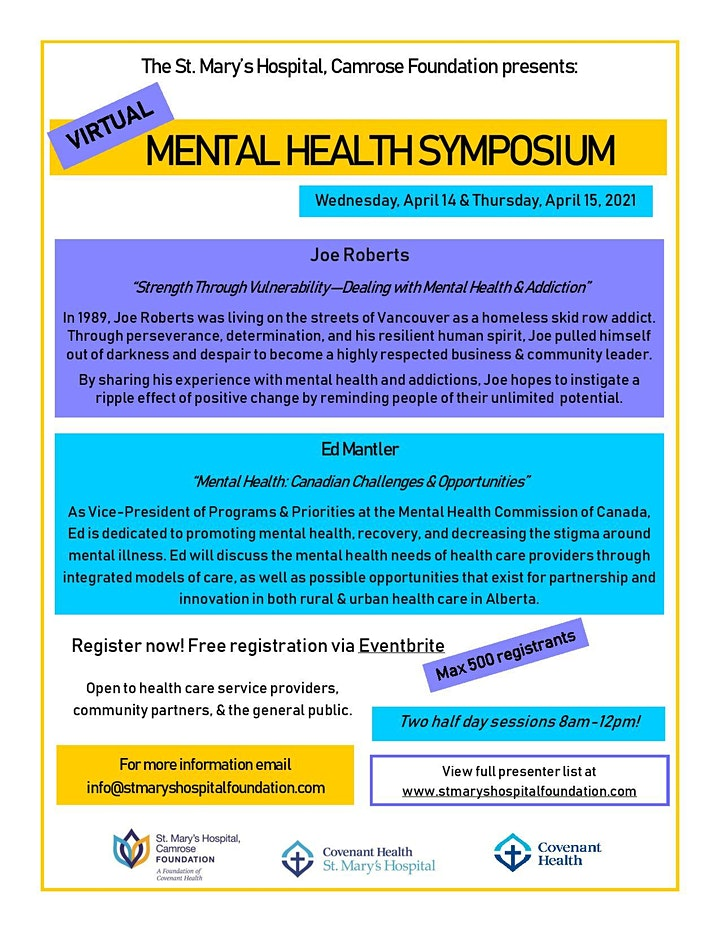 Camrose Mental Health Symposium image