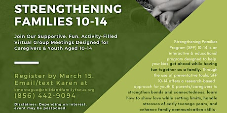 Strengthening Families Program 10-14 (for Bucks County, PA families) tickets