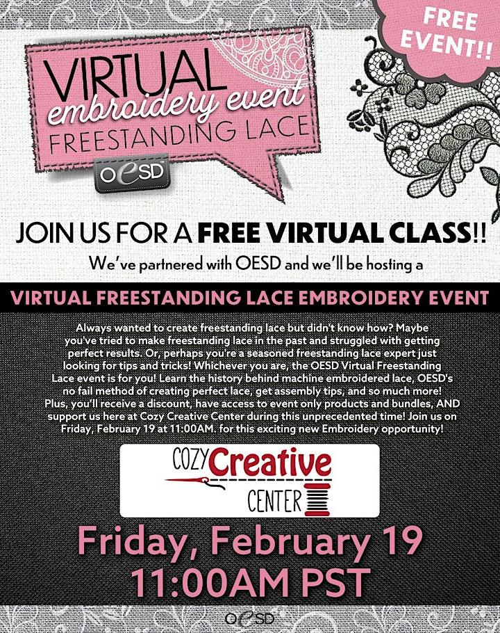 Cozy Creative Center Virtual Embroidery Event image