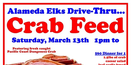 Alameda Elks Drive-Thru Crab Feed tickets