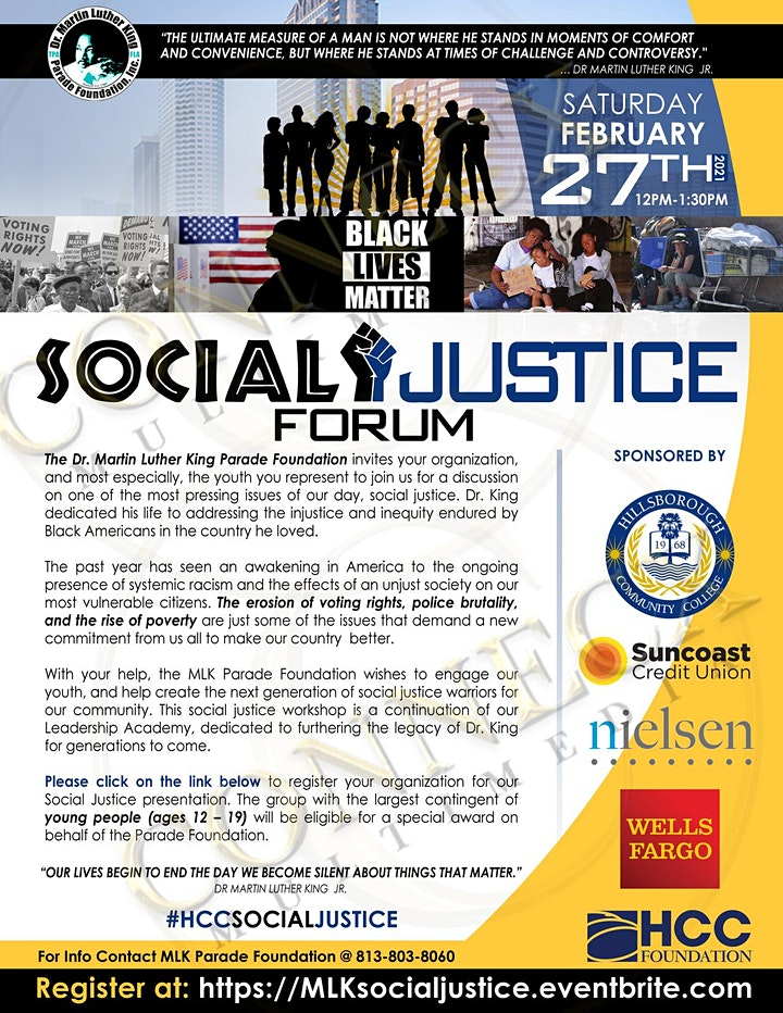 MLK Foundation Social Justice Forum image
