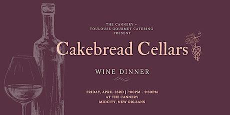 Cakebread Cellars Wine  Dinner tickets