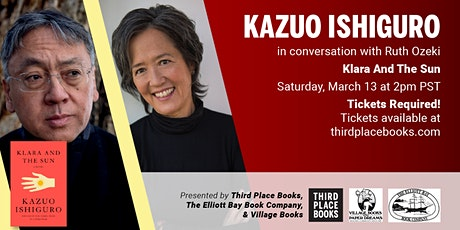 Kazuo Ishiguro, in conversation with Ruth Ozeki - Klara and the Sun tickets