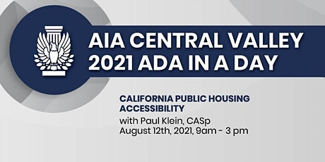 ADA In A Day: California Public Housing Accessibility tickets