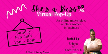 She's A Boss Virtual Pop-Up  & Panel Discussion tickets