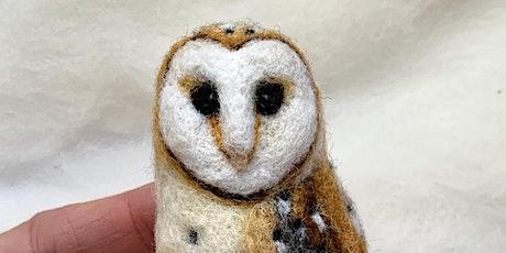 VIRTUAL: Needle Felted Barn Owl with Erin Carlson tickets