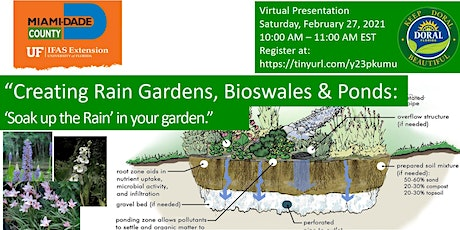 Creating Rain Gardens, Bioswales and Ponds: Soak up the Rain in your Garden tickets