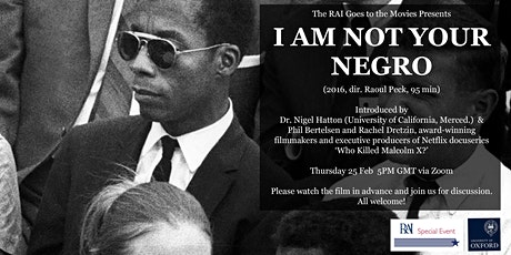 The RAI Goes to the Movies: I Am Not Your Negro (2016, dir. Raoul Peck) tickets