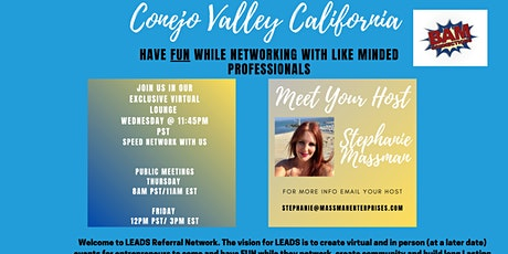 Leads Referral Virtual Speed Networking tickets