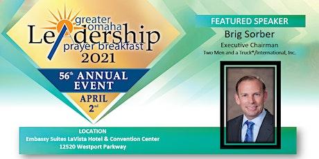 2021 Greater Omaha Leadership Prayer Breakfast tickets