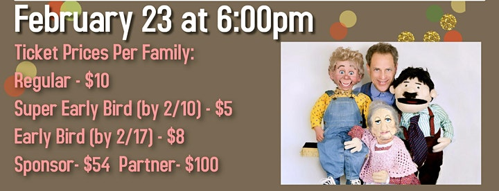 Pre-Purim Zoom Ventriloquist Show  with Jonathan Geffner and Friends image