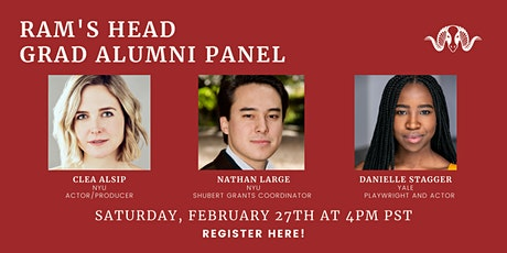 Pathways after College: Young Alumni Panel on Graduate School tickets