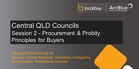 Regional Series Session 2 - Procurement and Probity Principles for Buyers tickets
