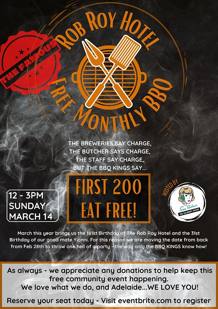 The Rob Roy Free Community BBQ - March 14th image