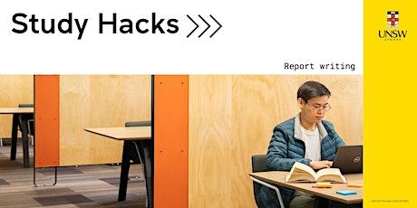 Study Hacks: Report writing tickets
