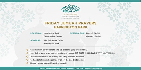 Friday (Jumuah) Prayers at Harrington Park Community Center, NSW 2567 tickets
