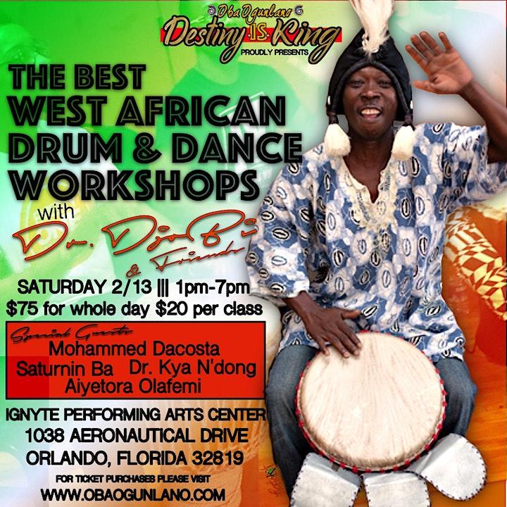 The Best West African Drum & Dance Workshop with DR.DJO BI & Friends image