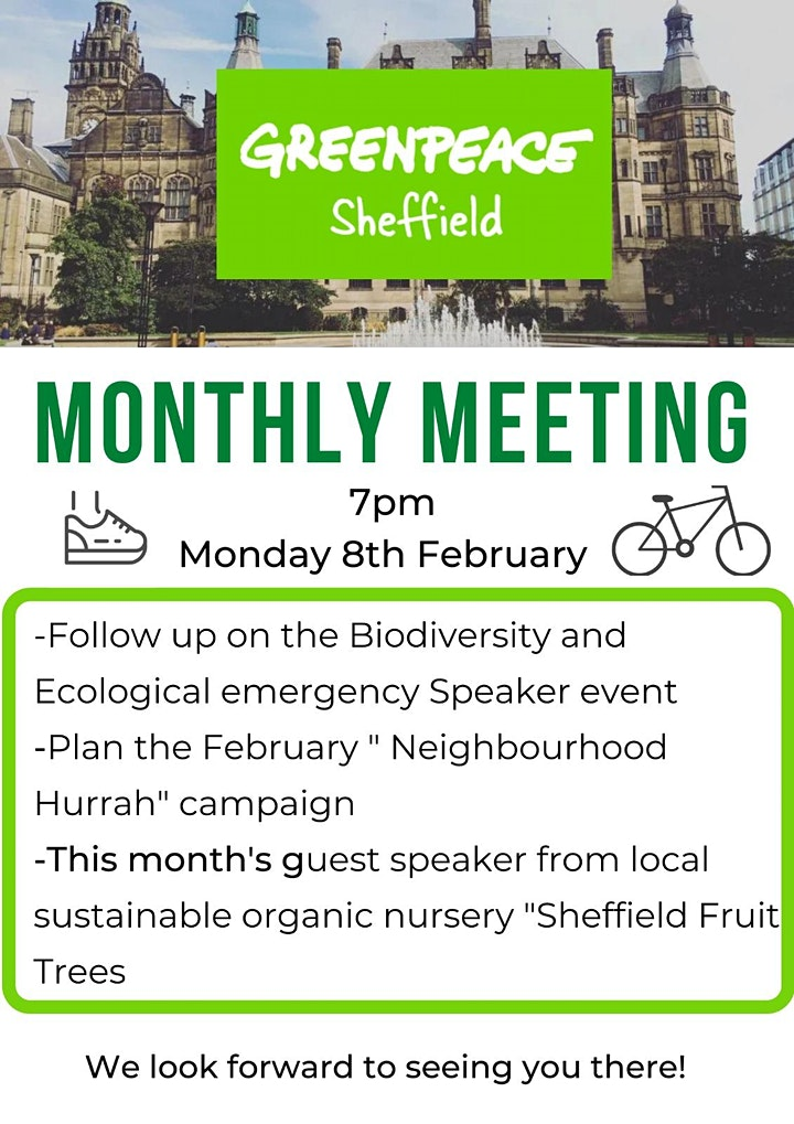 Sheffield Greenpeace February Monthly Meeting image