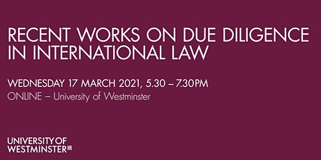 Recent Works on Due Diligence in International Law tickets
