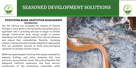 Ecosystem Based Adaptation Management Training (Virtually and Onsite) tickets