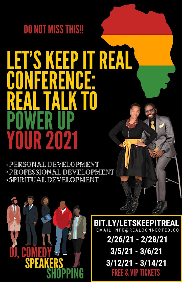 Let's Keep It Real Conference: REAL Talk to Power Up Your 2021 image