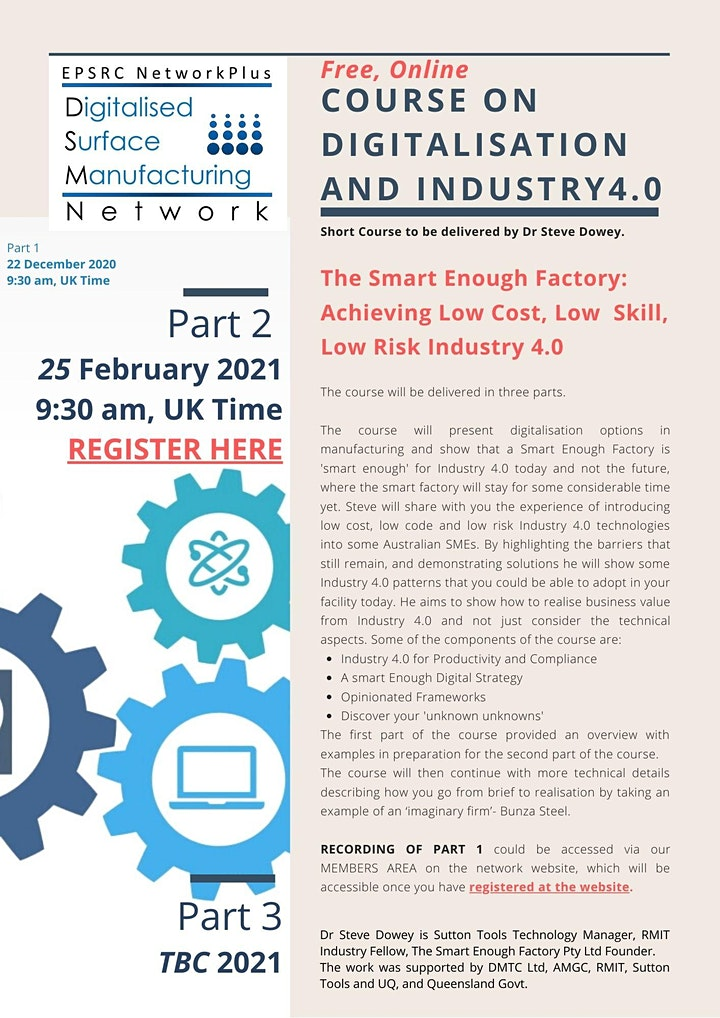 PART 2- DSM NetworkPlus FREE ON-LINE DIGITALISATION and INDUSTRY 4.0 COURSE image