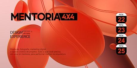 Mentoria 4x4 - Design Experience bilhetes